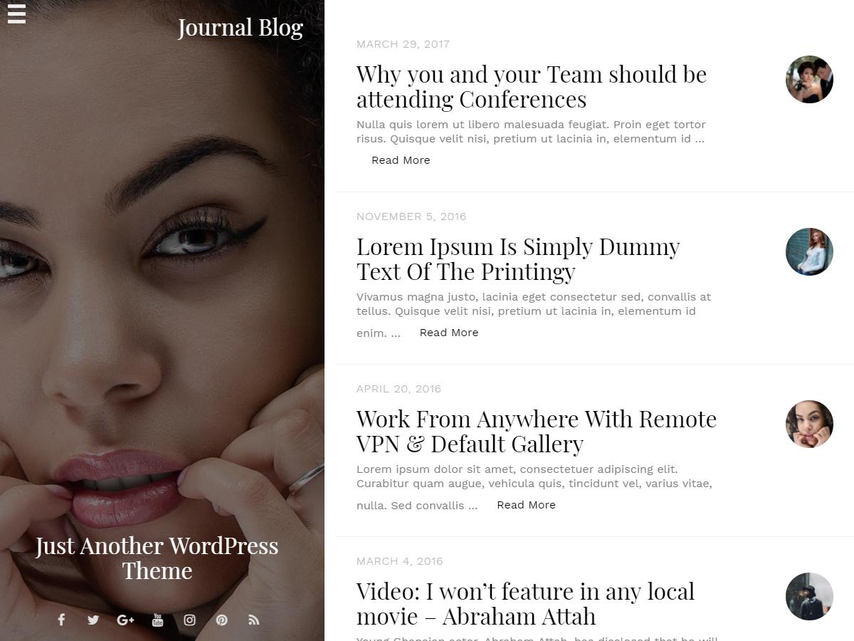 Journal Blog-Journalistic WordPress Theme