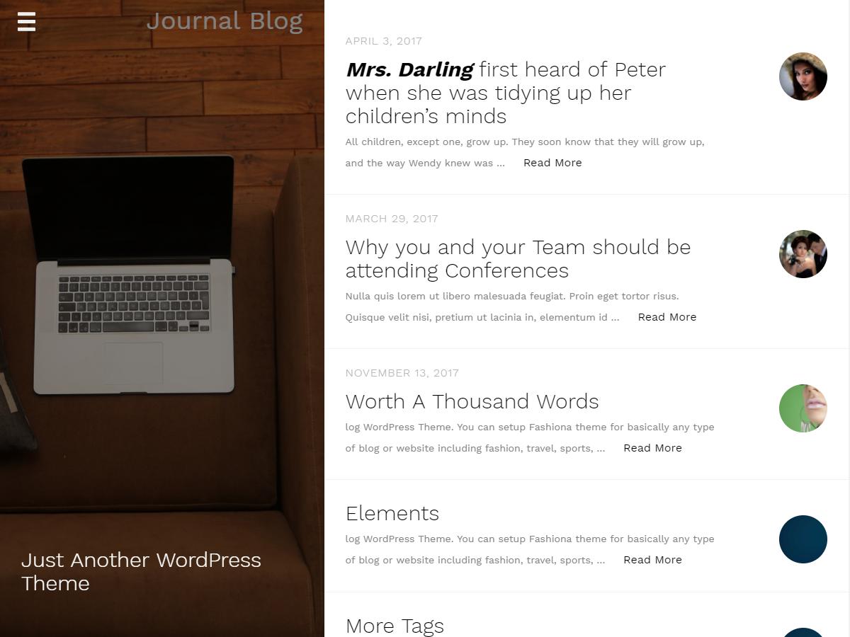Journal Blog-stylish Journalistic WordPress Theme
